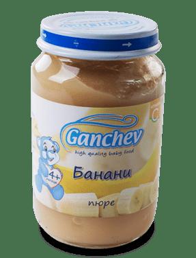 Ганчев Бебешко пюре от банани 190 гр.